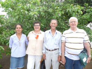 Prof.,  Milza, Rosa, José Leite e Messias Lopes.